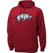 Arkansas Razorbacks Cardinal Tackle Twill Performance Fleece Hooded Sweatshirt