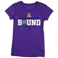 LSU Tigers National Championship Game Bound Women's Cap Sleeve T-Shirt