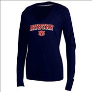 Auburn Tigers Women's Under Armour Lightweight V-Neck Hooded Sweatshirt