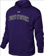 Northwestern Wildcats Under Armour Tackle Twill Fleece Hooded Sweatshirt