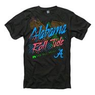 Alabama Crimson Tide Black Bel-Air Neon Ring Spun T-Shirt