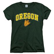 Oregon Ducks Women's Arch N Mascot T-Shirt