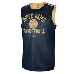 Notre Dame Fighting Irish adidas College Basketball Practice Jersey - Navy