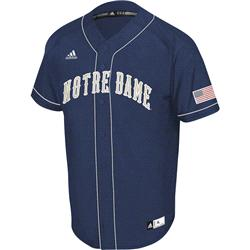 Notre Dame Fighting Irish Navy adidas Premier II Baseball Jersey