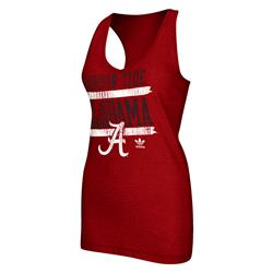 Alabama Crimson Tide adidas Originals Women's Tilted Racer Back Tank Top