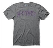 Kansas State Wildcats Vertical Arch Ring Spun Long Sleeve T-Shirt