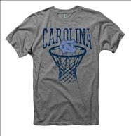 North Carolina Tar Heels School Yard Score Grey Ring Spun T-Shirt