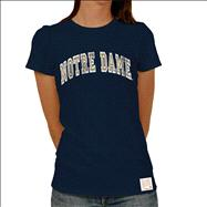 Notre Dame Fighting Irish Original Retro Brand Women's Arch Vintage Wash T-Shirt