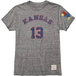 Kansas Jayhawks Original Retro Brand Wilt Chamberlain Long Sleeve T-Shirt