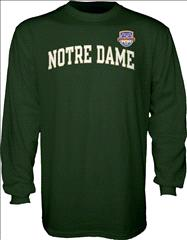 Notre Dame Fighting Irish 2013 BCS National Championship Game Arch Long Sleeve T-Shirt - Forest