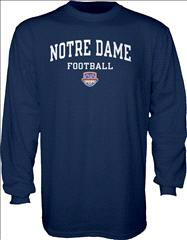Notre Dame Fighting Irish 2013 BCS National Championship Game Irish Everyday Long Sleeve T-Shirt - Navy