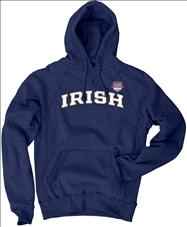 Notre Dame Fighting Irish 2013 BCS National Championship Game Irish Hooded Sweatshirt - Navy