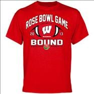 Wisconsin Badgers 2013 Rose Bowl Bound T-Shirt