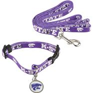 Kansas State Wildcats Dog Collar & Leash Set