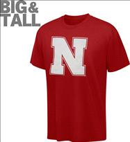 Nebraska Cornhuskers Big & Tall NCAA Logo T-Shirt