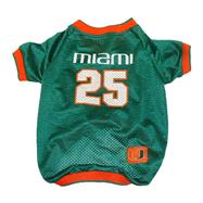 Miami Hurricanes Mesh Dog Jersey