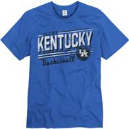 Kentucky Wildcats Royal Escalate Basketball Ring Spun T-Shirt