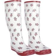 Wisconsin Badgers Women's Red All-Over Print Rubber Rain Boots