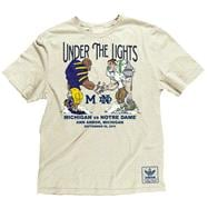 Michigan vs. Notre Dame White adidas Under The Lights Program Super Soft T-Shirt