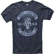 North Carolina Tar Heels Heathered Navy Rockers Ring Spun T-Shirt