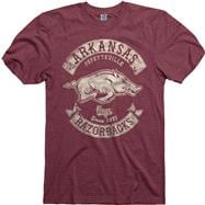 Arkansas Razorbacks Heathered Cardinal Rockers Ring Spun T-Shirt