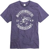 Kansas State Wildcats Heathered Purple Rockers Ring Spun T-Shirt