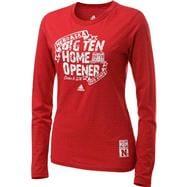 Nebraska Cornhuskers Women's adidas Red Bold Start Long Sleeve T-Shirt