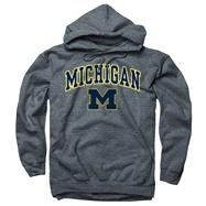 Michigan Wolverines Dark Heather Perennial II Hooded Sweatshirt