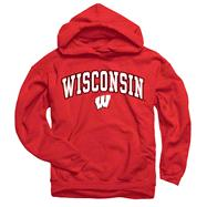 Wisconsin Badgers Youth Red Perennial II Hooded Sweatshirt