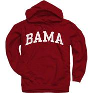 Alabama Crimson Tide Crimson Bama Arch Hooded Sweatshirt