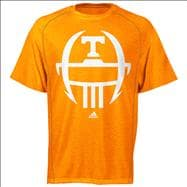 Tennessee Volunteers Heather Light Orange adidas 2012 Football Sideline Helmet ClimaLite T-Shirt