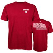 Nebraska Cornhuskers Red adidas Fight Fight Fight T-Shirt