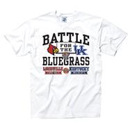 Louisville Cardinals vs. Kentucky Wildcats White Bluegrass Rivalry T-Shirts