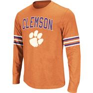 Clemson Tigers Purple Tackle Long Sleeve Slub Knit T-Shirt