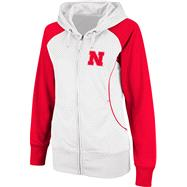 Nebraska Cornhuskers Women's Team Sleeve Full-Zip Hooded Sweatshirt