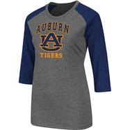 Auburn Tigers Navy Women's Nimbus 3/4 Sleeve T-Shirt