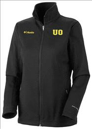 Oregon Ducks Women's Black Columbia Kruser Ridge Softshell Jacket
