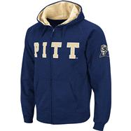 Pittsburgh Panthers Navy Twill Tailgate Full-Zip Hooded Sweatshirt