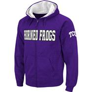 TCU Horned Frogs Purple Twill Tailgate Full-Zip Hooded Sweatshirt