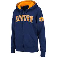 Auburn Tigers Women's Navy Twill Tailgate Full-Zip Hooded Sweatshirt