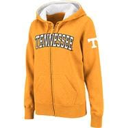 Tennessee Volunteers Women's Light Orange Twill Tailgate Full-Zip Hooded Sweatshirt