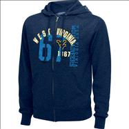 West Virginia Mountaineers Navy Heathered XII Full-Zip Hooded Sweatshirts