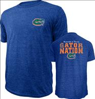 Florida Gators Royal Touchback Tri-Blend T-Shirt