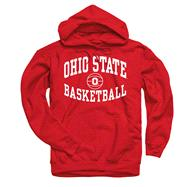Ohio State Buckeyes Red Reversal Basketball Hooded Sweatshirt