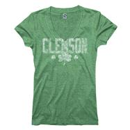 Clemson Tigers Women's Lady Luck St. Patty's Day Ring Spun T-Shirt