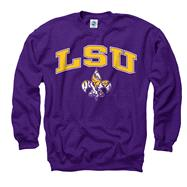 LSU Tigers Purple Fleur de lis Perennial II Crewneck Sweatshirt