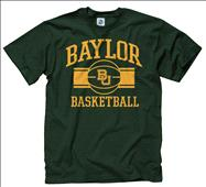 Baylor Bears Dark Green Wide Stripe Basketball T-Shirt