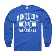 Kentucky Wildcats Royal Wide Stripe Baseball Long Sleeve T-Shirt