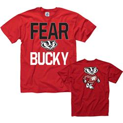 Wisconsin Badgers Red Fear Bucky T-Shirt
