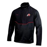 Utah Utes Black Under Armour 2012 Coaches Football Sideline Contender Half-Zip Jacket